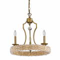 "Ava Modern Raw Brass Crystal Pendant Light 18""Wx20""H"