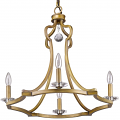 "Peyton Raw Brass Crystal Chandelier 23""Wx22""H"