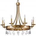 "Krista Antique Gold & Crystal Chandelier 32""Wx31""H - Sale !"