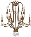 "Gianna Russet Gold Iron & Crystals Chandelier Light 28""Wx35""H"