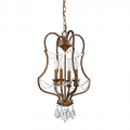 "Gianna Russet Gold Iron & Crystals Chandelier Light 15""Wx25""H"