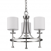 "Kara Polished Nickel Chandelier Drum Shades 18""Wx16""H"