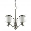 "Giuliana Satin Nickel Chandelier Glass Drum Shades 18""Wx20""H"