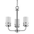"""Alexis Polished Nickel Pendant Glass Drum Shades 18""""Wx20""""H"""