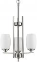 "Sophia Satin Nickel Pendant Glass Shade Light 20""Wx30""H"