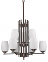 "Sophia Oil Rubbed Bronze Chandelier Glass Shades 31""Wx42""H"