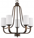 "Addison Oil Rubbed Bronze Chandelier Glass Shades 25""Wx26""H"