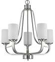 "Addison Satin Nickel Chandelier Glass Shades 25""Wx26""H"