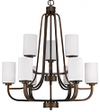 "Addison Oil Rubbed Bronze Chandelier Glass Shades 28""Wx32""H"