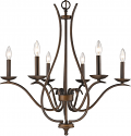 "Genevieve Oil Rubbed Bronze Candlestick Chandelier 28""Wx28""H"