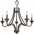 "Michelle Bronze Wrought Iron Shepherds Crook Chandelier 28""Wx25""H - Sale !"