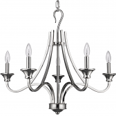 "Michelle Polished Nickel Candlestick Chandelier 28""Wx25""H"