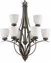 "Alana Oil Rubbed Bronze Chandelier Glass Shades 28""Wx34""H"