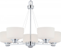 "Soho Polished Chrome Chandelier Glass Shades 27""Wx20""H"