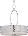 "Harlow Nickel Gray Drum Pendant Light 18""Wx20""H"