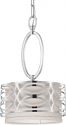 "Harlow Nickel Gray Drum Mini Pendant Light 9""Wx15""H"