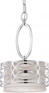 "Harlow Nickel Gray Drum Mini Pendant Light 9""Wx15""H"