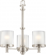"Decker Brushed Nickel Chandelier Glass Shades 20""Wx23""H"