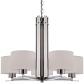 """Parallel Polished Nickel Chandelier Drum Glass 26""""Wx20""""H"""