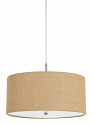 "Burlap Drum Pendant Light 18""Wx8.5""H"