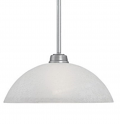 "Franklin Brushed Pewter Pendant Light Scavo Glass 12""Wx44""H"