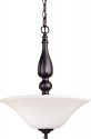 "Dupont Dark Bronze Pendant Light Glass Shades 16""Wx20""H"