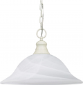 "Textured White Alabaster Glass Bell Pendant Light 16""Wx11""H"