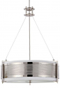 "Diesel Perforated Polished Nickel Drum Shade Pendant 21""Wx27""H"