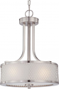 "Fusion Brushed Nickel Drum Pendant 14""Wx19""H"