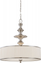 "Candice Brushed Nickel Drum Pendant 24""Wx24""H"