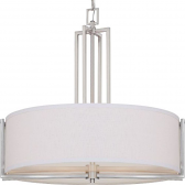 "Gemini Brushed Nickel Drum Pendant 23""Wx23""H"