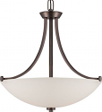 "Bentley ORB Bronze Pendant Frosted Glass Shade 21""Wx23""H"