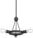 """Paxton Aged Bronze Chandelier Antique Edison Bulb 22""""Wx12""""H"""