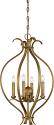 "Dillard Natural Brass Pendant Metal Frame 16""Wx25""H"
