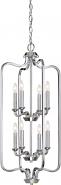"""Willow Polished Nickel Candlestick Pendant 17""""Wx34""""H"""
