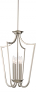 "Laguna Brushed Nickel Iron Candlestick Foyer Light 14""Wx61""H"