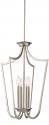 """Laguna Brushed Nickel Iron Candlestick Foyer Light 14""""Wx61""""H"""
