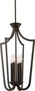 "Laguna Aged Bronze Iron Candlestick Foyer Light 14""Wx61""H"