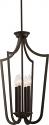 "Laguna Aged Bronze Iron Candlestick Foyer Light 14""Wx61""H"