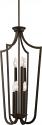 "Laguna Aged Bronze Iron Candlestick Foyer Light 17""Wx71""H"