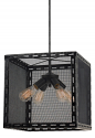 "Black & Silver Highlights Wire Mesh Pendant Light 16""W - Sale !"