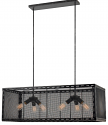 "Black & Silver Highlights Wire Mesh Island Light 39""W"