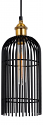 "Black & Brass Industrial Pendant Light 6""Wx15""H - Sale !"