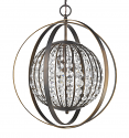 """Olivia Oil Rubbed Bronze Crystal Ball Chandelier 18""""Wx21""""H"""