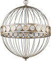 "Aria Silver Sphere Chandelier Mother of Pearl Accents 20""Wx24""H"