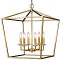 "Kennedy Antique Gold Lantern Pendant Light 20""Wx24""H"