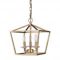 "Kennedy Antique Gold Lantern Pendant Light 12""Wx14""H"