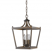 "Kennedy Oil Rubbed Bronze Lantern Pendant Light 10""Wx16""H"