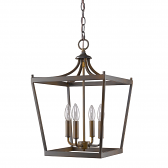 "Kennedy Oil Rubbed Bronze Lantern Pendant Light 13""Wx20""H"