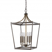 "Kennedy Oil Rubbed Bronze Lantern Pendant Light 16""Wx28""H"